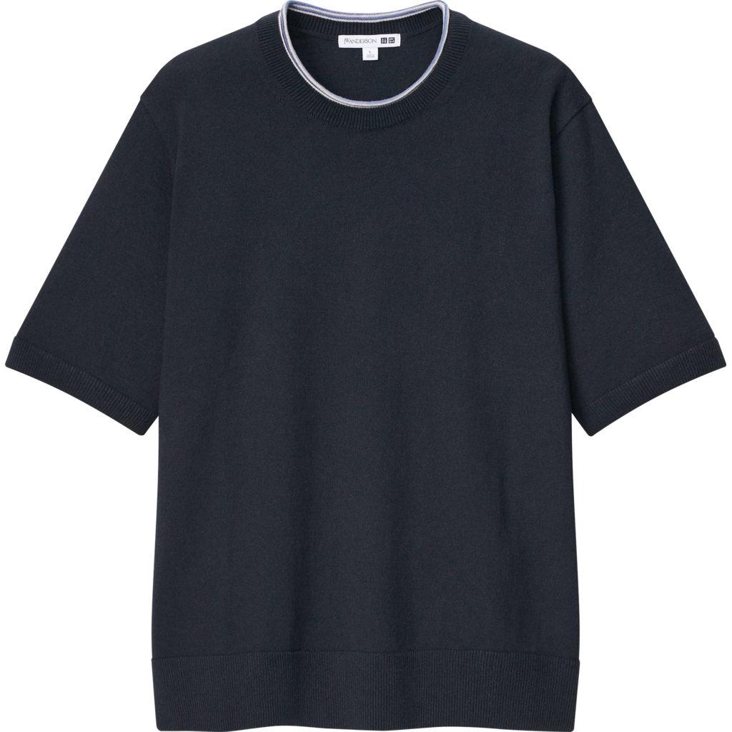 Linen Blend Crew Neck Short Sleeve Sweater