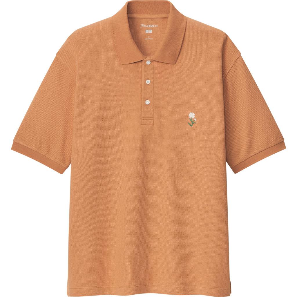 Flower Embroidery Short Sleeve Polo Shirt
